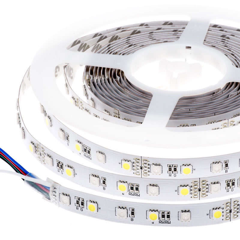 Tira LED EPISTAR SMD5050, RGB+NW, DC24V, 5m (60Led/m) - IP20,